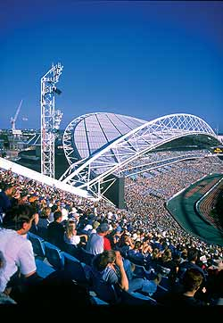 Stadium Australia, utilising BlueScope Steel products